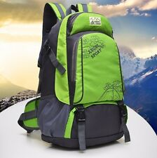 40L Backpack Hiking Camping Gym Sports Outdoor Travel Bag School Rucksack Green