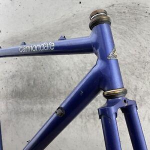 Cannondale Frame 54 cm 55 SR 500 Road Race Bike 700c Vintage 80s Blue 126 mm
