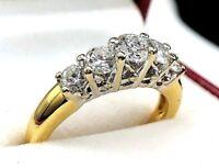 Sparkling 1.00 cts G VS1 of diamonds 18k Yellow Gold Diamond Band Ring size 6.25