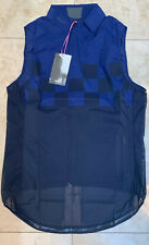 Rapha Classic Wind Check Gilet Navy Check Medium Brand New With Tag Size