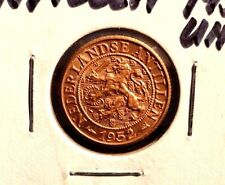 UNCIRCULATED 1952 I CENT NEDERLANDSE  ANTILLEN COIN (72216)
