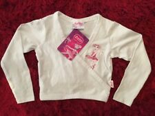 ANGELINA BALLERINA Girls White Dance Wrap Top Sportswear (Size 3) NWT