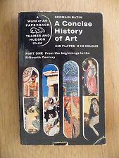 A Concise History of Art Part 1 Germain Bazin 1962 reprint T&H World of Art Good
