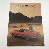 Vtg 1973 Print Ad Ford Mustang 2 Advertising Art