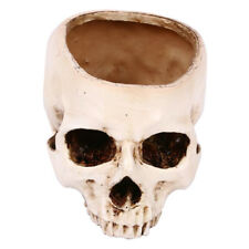 Cute Artificial Resin Skull Head Flower Pot Plant Bowl Container Garden Planter