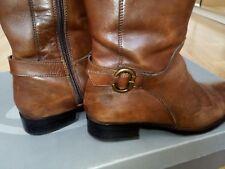 Salamander Bottes en cuir marron clair talon 3 cm T39 Occasion