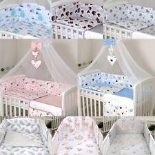3 6 9 11 tlg Babybettwäsche BabyBett 120 x 60,140 x 70 cm, Himmel Nestchen Decke