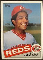 1985 Topps - Mario Soto - Blank Back Error - Cincinnati Reds - NM