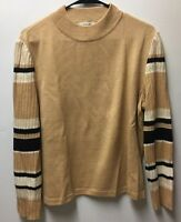 ST JOHN SPORT Marie Gray Size Large Santana Knit Sweater Brown Pullover