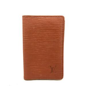 Louis Vuitton Epi Do Poche Brown Leather Pass Card Case /E1276