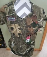 New Mossy Oak Womens Short Sleeves CAMO T-SHIRT - Sz L 12-14