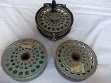 "Vintage 3.5"" INTREPID GEARFLY REGULAR Fly Reel + 2 Spare Spools & 2 Fly Lines."