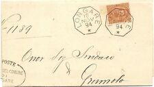P6118   Vicenza, LONGARE, annullo ottagonale 1894