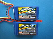2 ZIPPY 800mAh 3S 11.1V 20C 30C LIPO BATTERY JST MINI FLYER PLANES QUAD HELI FPV