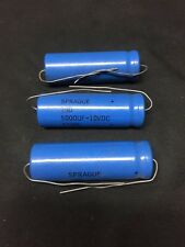 Lot Of 3- Sprague 39D 5000UF  10 VDC Type CGS 7330L 7330 Capacitors