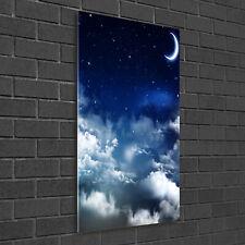 Wandbild Kunst-Druck auf Hart-Glas senkrecht 50x100 Sternenhimmel