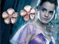 New Harry Potter Hermione Yule Ball  Crystal Earring Flower Ear Stud