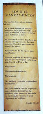 Lot of 10 Bookmarks Ten Commandments in Spanish Marcadores Los Diez Mandamientos