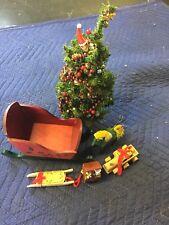 Wooden Christmas Sleigh Music Box Christmas Tree And Wooden Christmas Ornament