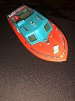 vintage toy motorboat battery operated chris craft made Hong Kong Not Tested