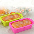 Silicone Rectangle Non Stick Bread Loaf Cake Mold Bakeware Baking Pan Mould H&T