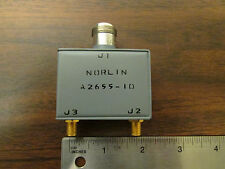 Norlin A2655-10 HF Directional Coupler 10dB Rf Microwave SMA to N NOS
