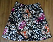 CUBAVERA SKIRT Plus size 1X Brown Orange Pink White Elastic Women's