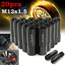 20X Universal Car OPEN END EXTENDED TUNER RACING WHEEL LUG NUTS 60MM M12X1.5MM