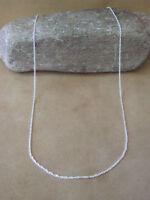 "Southwestern Jewelry Sterling Silver Triple Link Chain Necklace 20"" Long x 1 MM"