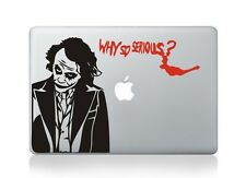 "Joker Why So Serious Laptop Apple Decal Sticker Macbook Air/Pro/Retina 13""15""17"""
