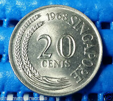 1968 Singapore 20 Cents Sword Fish Coin