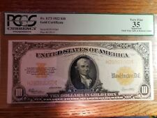 1922, Gold Certificate 10 Dollars, FR-1173, PCGS VF 35