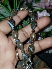 Australian Natural Boulder Opal Bead Bracelet