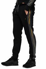 Superdry Vintage para Hombre Logo Chandal Correr Pantalones de Chándal Negro