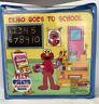 Elmo Goes to School Felt Playset Interactive Softplay Book Sesame Street Cutouts