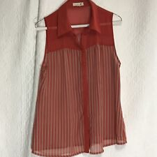 Mine Womens Sleeveless Blouse Sz L