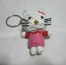 Hello Kitty  Voodoo String Doll Keychain Ornament Accessory(Thai handmade)