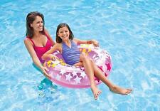 "36"" Intex Inflatable Swim Ring Stars Float with Handles Beach Pool Swim Lounger"