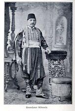 Vornehmer Albanese in seiner Volkstracht Historisches Bilddokument von 1910