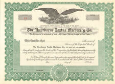 The Hawthorne Textile Machinery Company > New Jersey stock certificate share