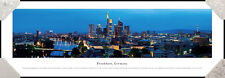 Frankfurt Germany City Night Skyline Commerzbank Tower Framed Poster Picture II