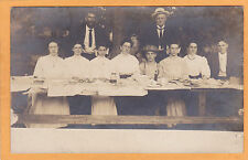 Real Photo Postcard RPPC - People at A Picnic Table