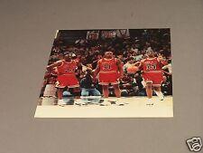 Michael Jordan, Pippen & Rodman, Chicago Bulls Original Game Photo #1