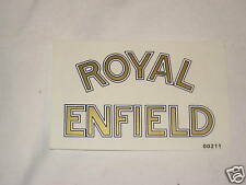 Royal Enfield motorcycles logo vinyl decal white gold