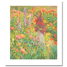 "DON HATFIELD - Original Serigraph ""Private Garden"" - Signed & Numbered - COA"