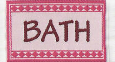 1 12 Scale Small Woven Pink Bath Rug Mat Dolls House Miniature Carpet Accessory