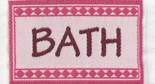 Escala 1:12 pequeñas tejidas Alfombra colchoneta de baño rosa casa de muñecas en miniatura de accesorios de alfombra