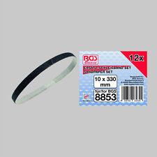 BGS 10 mm x 330 mm  Schleifbänder für Druckluft Bandschleifer Körnung 60 80 120