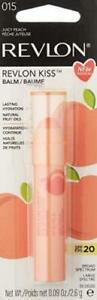 Lot of 3 -Revlon Kiss Balm SPF 20 .09 Oz # 015 Juicy Peach BRAND NEW