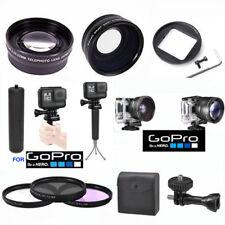 GOPRO HERO5 BLACK WIDE ANGLE LENS+TELEPHOTO ZOOM LENS +3 FILTER KIT + SPORT GRIP